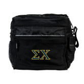 All Sport Black Cooler-Sigma Chi Greek Letters