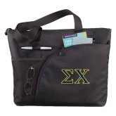 Excel Black Sport Utility Tote-Sigma Chi Greek Letters