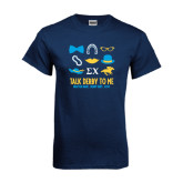 Navy T Shirt-Talk Derby To Me Icons Version, Personalized