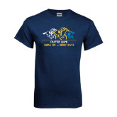 Navy T Shirt-Derby Days Horses Racing, Personalized