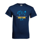 Navy T Shirt-Derby Days Racing Horse Coach, Personalized