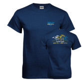 Navy T Shirt-Derby Days Horses Racing