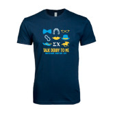 Next Level SoftStyle Navy T Shirt-Talk Derby To Me Icons Version, Personalized