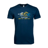 Next Level SoftStyle Navy T Shirt-Derby Days Horses Racing, Personalized