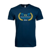 Next Level SoftStyle Navy T Shirt-Derby Days Icons w/Leaves, Personalized