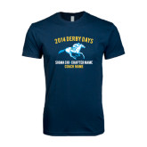 Next Level SoftStyle Navy T Shirt-Derby Days Racing Horse, Personalized