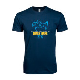 Next Level SoftStyle Navy T Shirt-Derby Days Racing Horse Coach, Personalized