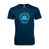 Next Level SoftStyle Navy T Shirt-Derby Days Coach Circle, Personalized