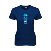 Ladies Navy T Shirt-Talk Derby To Me Tall Version, Personalized