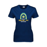 Ladies Navy T Shirt-Derby Days Horse Shoe, Personalized