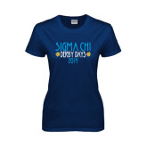 Ladies Navy T Shirt-Sigma Chi Derby Days, Personalized