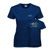 Ladies Navy T Shirt-Derby Days Horses Racing, Personalized