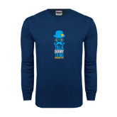 Navy Long Sleeve T Shirt-Talk Derby To Me Tall Version, Personalized