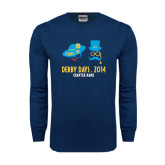 Navy Long Sleeve T Shirt-Derby Days Man & Women w/Hats