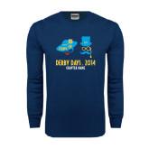 Navy Long Sleeve T Shirt-Derby Days Man & Women w/Hats