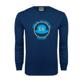 Navy Long Sleeve T Shirt-Derby Days Coach Circle