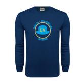 Navy Long Sleeve T Shirt-Derby Days Coach Circle