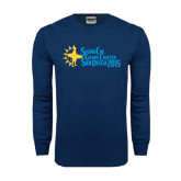 Navy Long Sleeve T Shirt-Grand Chapter San Diego 2015