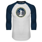 White/Navy Raglan Baseball T Shirt-81st Grand Chapter