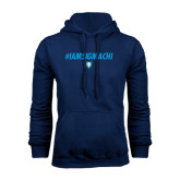 Navy Fleece Hood-IAMSIGMACHI