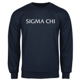 Navy Fleece Crew-Sigma Chi