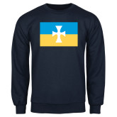 Navy Fleece Crew-Flag
