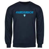 Navy Fleece Crew-IAMSIGMACHI