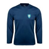 Syntrel Performance Navy Longsleeve Shirt-Shield