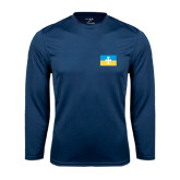 Syntrel Performance Navy Longsleeve Shirt-Flag