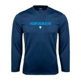 Syntrel Performance Navy Longsleeve Shirt-IAMSIGMACHI