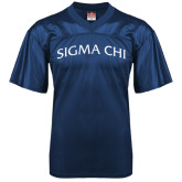 Replica Navy Adult Football Jersey-Arched Sigma Chi