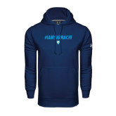Under Armour Navy Performance Sweats Team Hood-IAMSIGMACHI