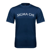 Syntrel Performance Navy Tee-Arched Sigma Chi