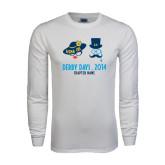 White Long Sleeve T Shirt-Derby Days Man & Women w/Hats
