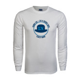 White Long Sleeve T Shirt-Derby Days Coach Circle