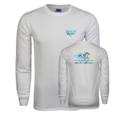 White Long Sleeve T Shirt-Derby Days Horses Racing