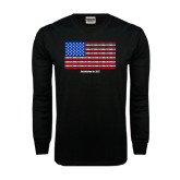 Black Long Sleeve TShirt-Flag Design