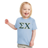 Toddler Light Blue T Shirt-Sigma Chi Greek Letters