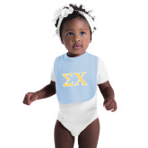 Light Blue Baby Bib-Sigma Chi Greek Letters