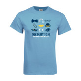 Light Blue T Shirt-Talk Derby To Me Icons Version