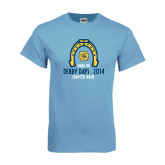 Light Blue T-Shirt-Derby Days Horse Shoe