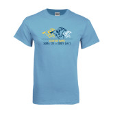 Light Blue T Shirt-Derby Days Horses Racing