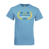 Light Blue T-Shirt-Derby Days Icons w/Leaves
