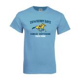 Light Blue T Shirt-Derby Days Racing Horse