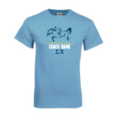 Light Blue T-Shirt-Derby Days Racing Horse Coach