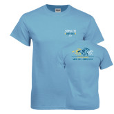 Light Blue T Shirt-Derby Days Horses Racing