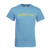 Light Blue T Shirt-Arched Sigma Chi