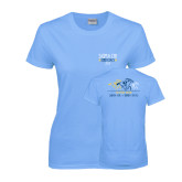 Ladies Sky Blue T Shirt-Derby Days Horses Racing, Personalized