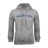 Grey Fleece Hood-Arched Sigma Chi