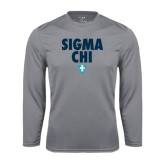 Syntrel Performance Steel Longsleeve Shirt-Stacked Sigma Chi w/ Shield